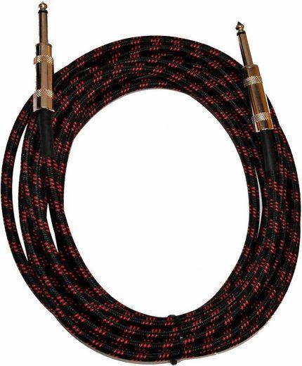 Clifton »Kabel, 5 m« Instrumentenkabel, 6,35-mm-Klinke, (5 cm), für E-Gitarre, E-Bass oder Tasteninstrumente