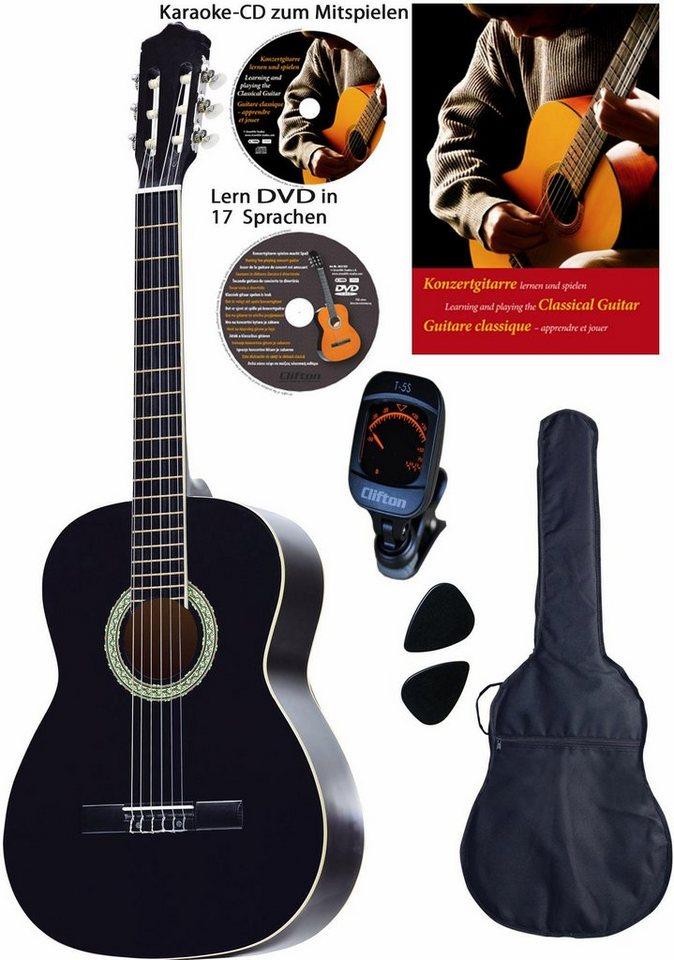 Clifton Gitarrenkomplettset,  Konzertgitarren Set, 4/4  online kaufen