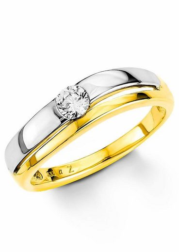 Amor Goldring, mit Zirkonia