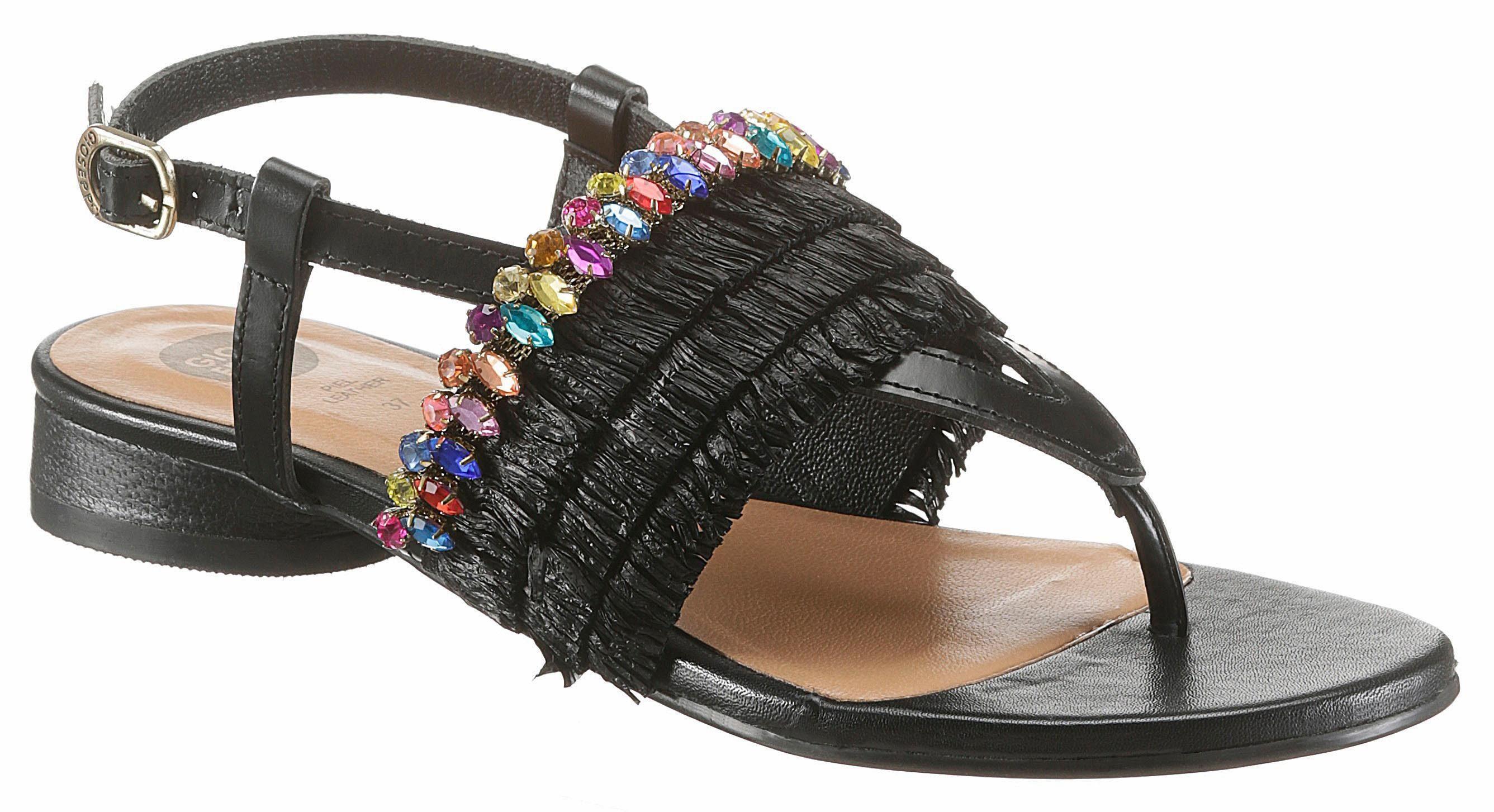 Gioseppo Sandalette, mit bunten Schmucksteinen  schwarz