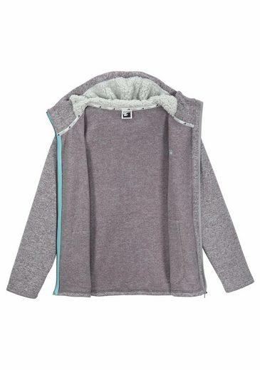 Mit Sportswear Teddy fleece Strickfleecejacke Ocean xYqygvPXqw