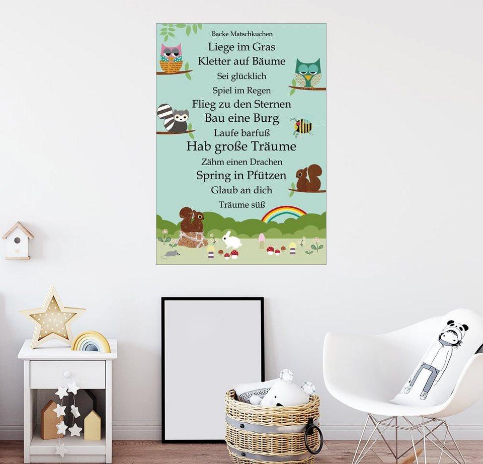posterlounge wandbild greennest hab gro e tr ume mit tieren online kaufen otto. Black Bedroom Furniture Sets. Home Design Ideas