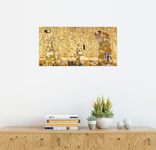 Posterlounge Wandbild - Gustav Klimt »Der Lebensbaum (Komplett)«