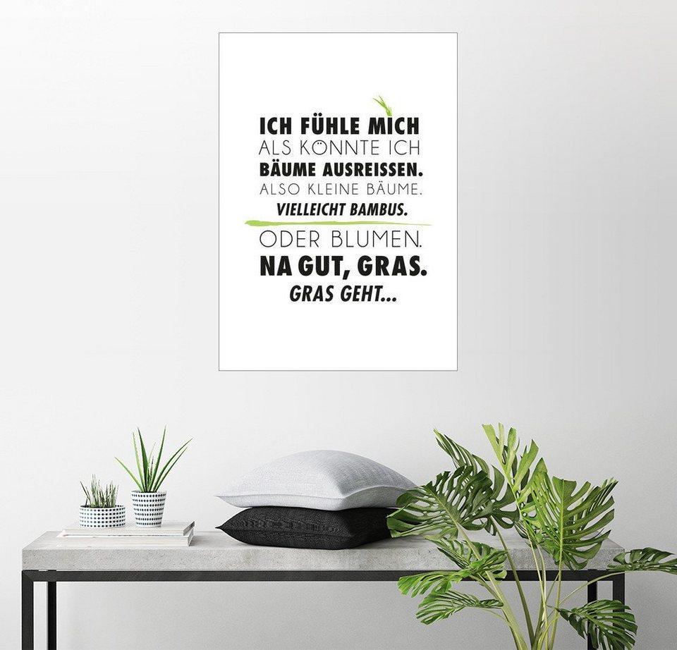 Posterlounge Wandbild Formart Zeit Fur Schones Ich Fuhle Mich