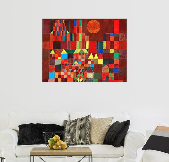 Posterlounge Wandbild - Paul Klee »Schloss und Sonne«