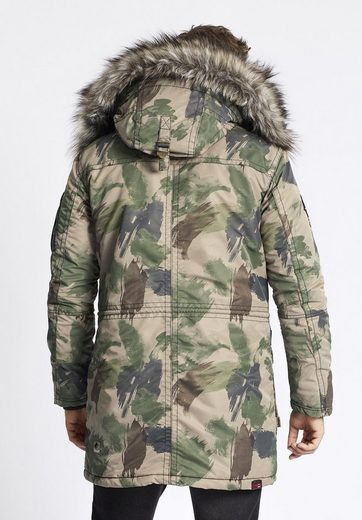 Khujo Winterjacke Carter, Hood With Removable Long Hair Fell On The Art
