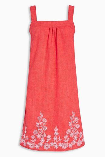 Next Besticktes Kleid aus Leinengemisch