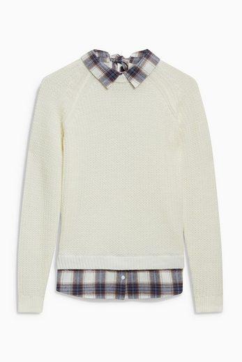 Next Pullover mit Hemdeinsatz