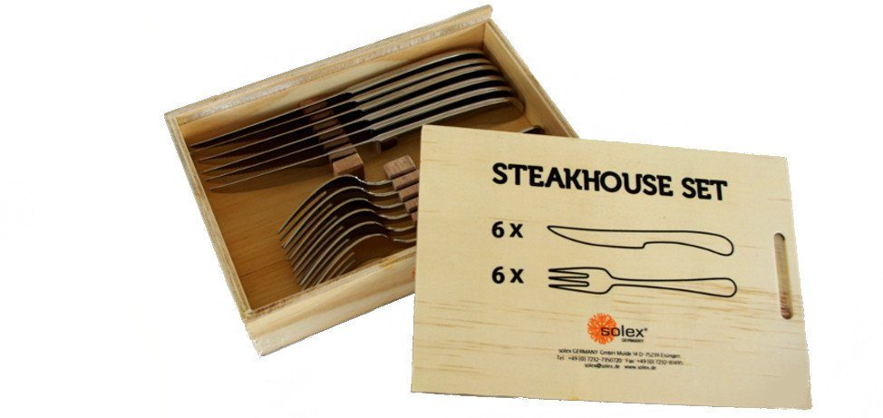 Solex Steakbesteck 12 tlg. »Steakhouse Julia«