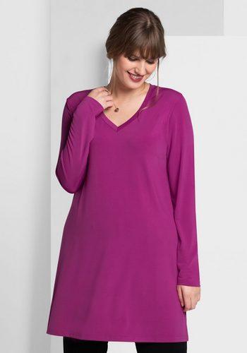 Damen sheego Style Longshirt mit Seitenschlitzen rosa | 04054697760897