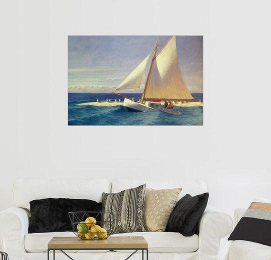 Posterlounge Wandbild - Edward Hopper »Segelboot«