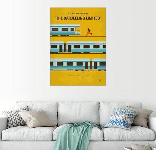 Posterlounge Wandbild - chungkong »No800 My The Darjeeling Limited minimal movie...«