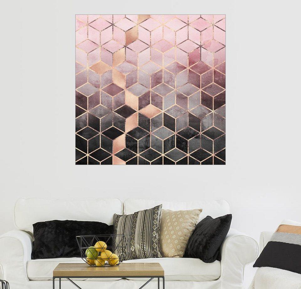 Posterlounge Wandbild - Elisabeth Fredriksson »Rosa und