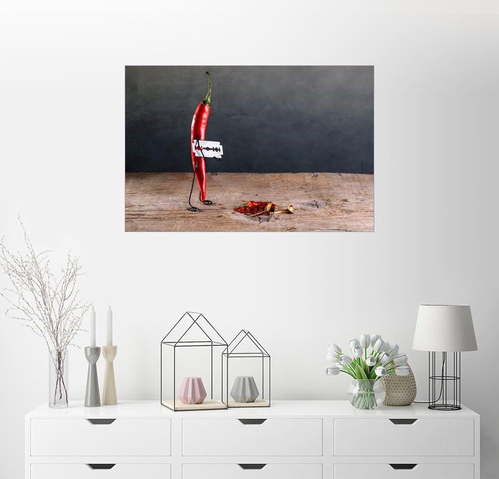 Posterlounge Wandbild - Nailia Schwarz »Simple Things - Scharfe Chilischote« | Dekoration > Bilder und Rahmen > Bilder | Holz | Posterlounge