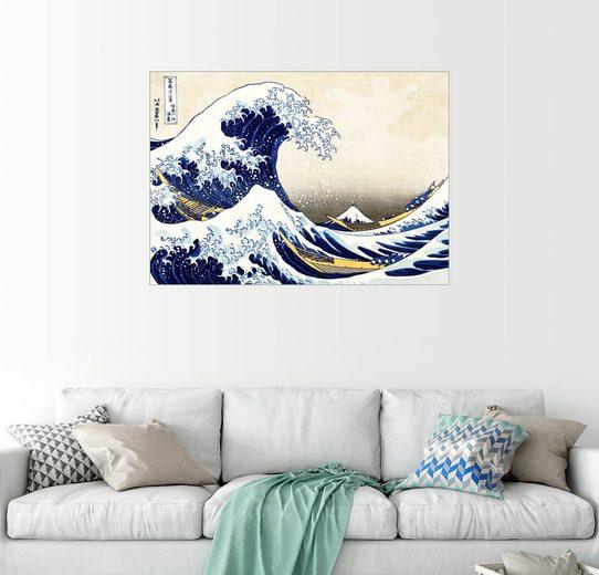 Posterlounge Wandbild - Katsushika Hokusai »Die große Welle von Kanagawa«