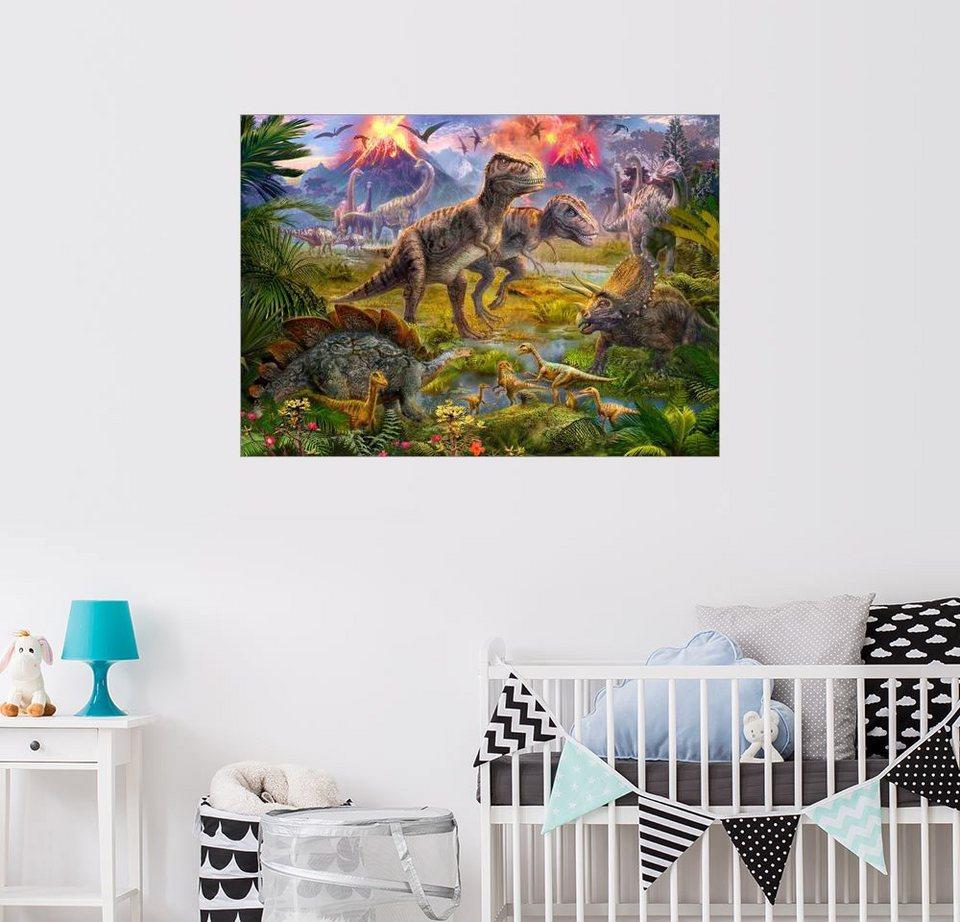 Posterlounge Wandbild - Jan Patrik Krasny »Lebende Dinosaurier ...