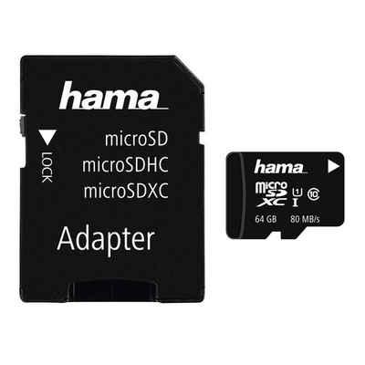 Hama microSDHC 64 GB Class 10 UHS-I 80MB/s + Adapter/Mobile »microSD Memory Card«