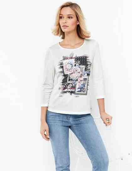 Gerry Weber T-Shirt 3/4 Arm »3/4 Arm Shirt Organic Cotton«