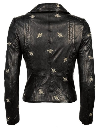 MAZE Biker-Jacke mit Stickereien Blackridge