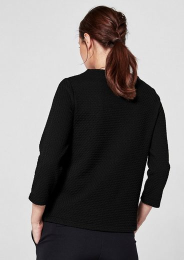 s.Oliver BLACK LABEL Shirt mit Strukturmuster