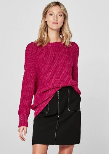 s.Oliver BLACK LABEL Wollmix-Pullover mit Lurex