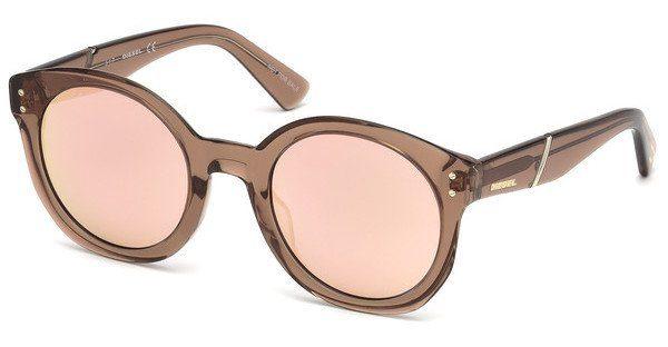 Diesel Damen Sonnenbrille » DL0252«, braun, 45Z - braun/Mirror