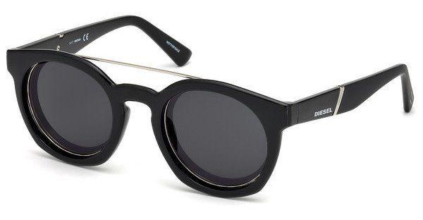 Diesel Sonnenbrille » DL0251«, schwarz, 01C - schwarz/grau