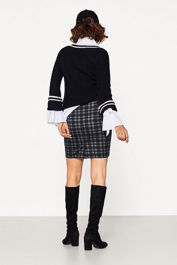 Esprit Plaid Pencil Skirt Made Of Heavy Jersey