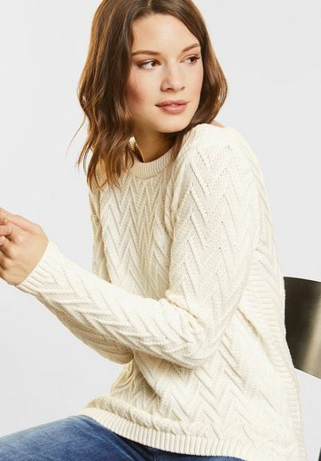 Street One Pullover With A Zigzag Pattern