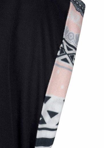 Pyjama Hose Mit Im Schwarz gemustert Lascana Paisleymuster Langer mNvOPnyw80