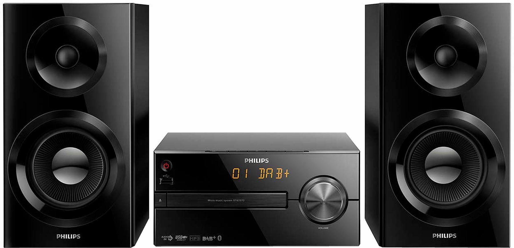 Philips »BTB2570/12« Stereoanlage (Bluetooth, Digitalradio (DAB), 70 W, CD-Player, Bluetooth)