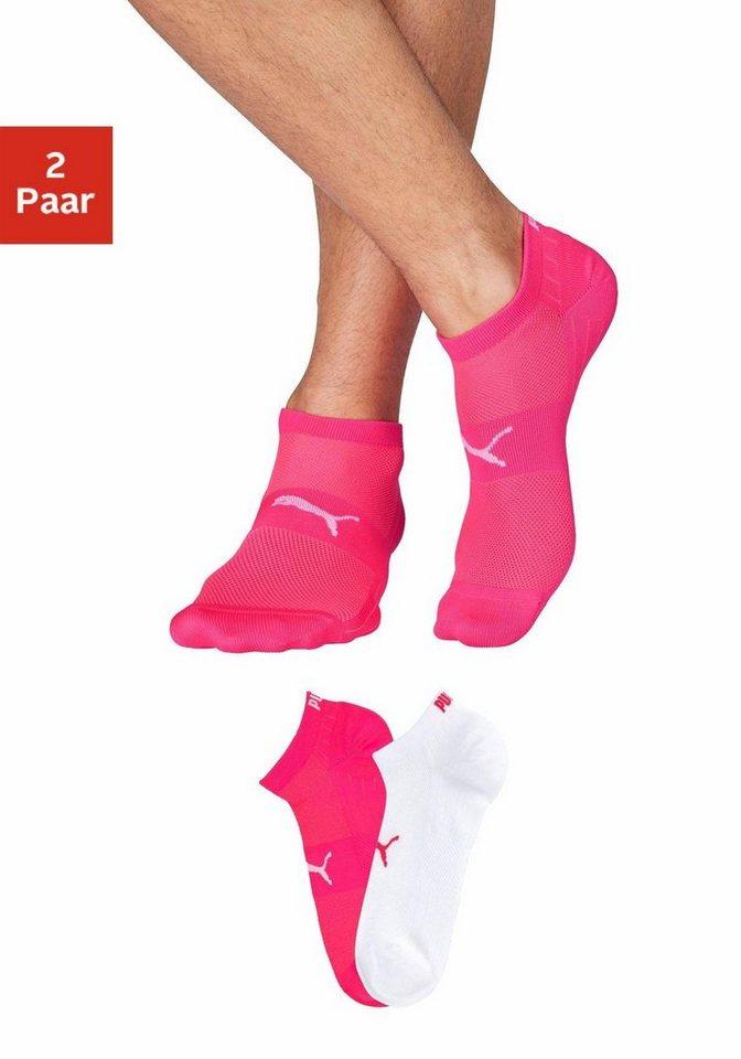 PUMA Sneakersocken, mit Netzstoff-Einsätzen | Bekleidung > Wäsche > Socken | Bunt | PUMA