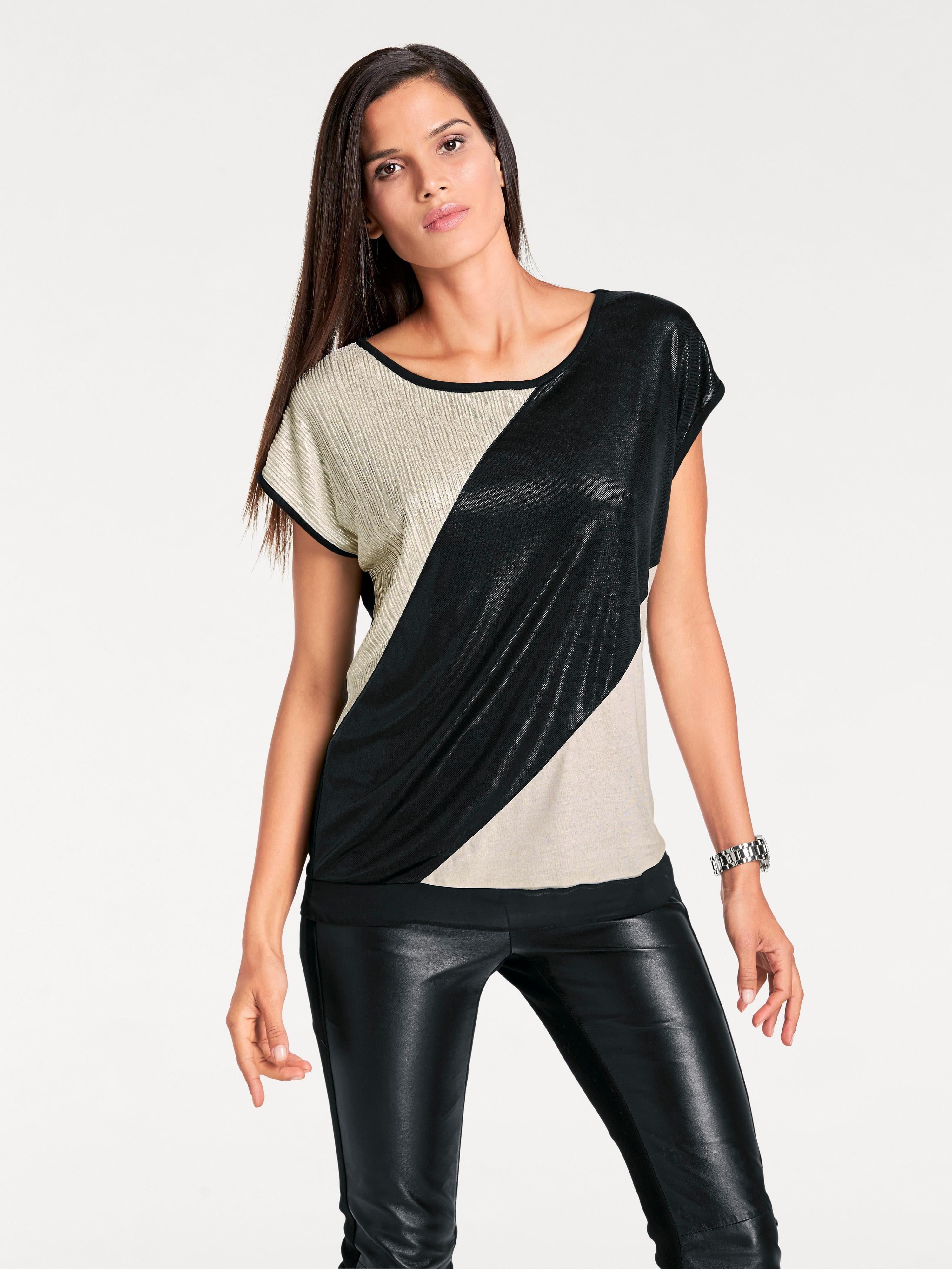 heine TIMELESS Shirt mit Glanz-Effekt