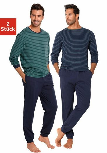 le jogger® Pyjama, lang im Streifendesign