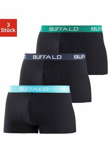 Buffalo Boxer (3 Stück) mit kontrastfarbenen Bündchen