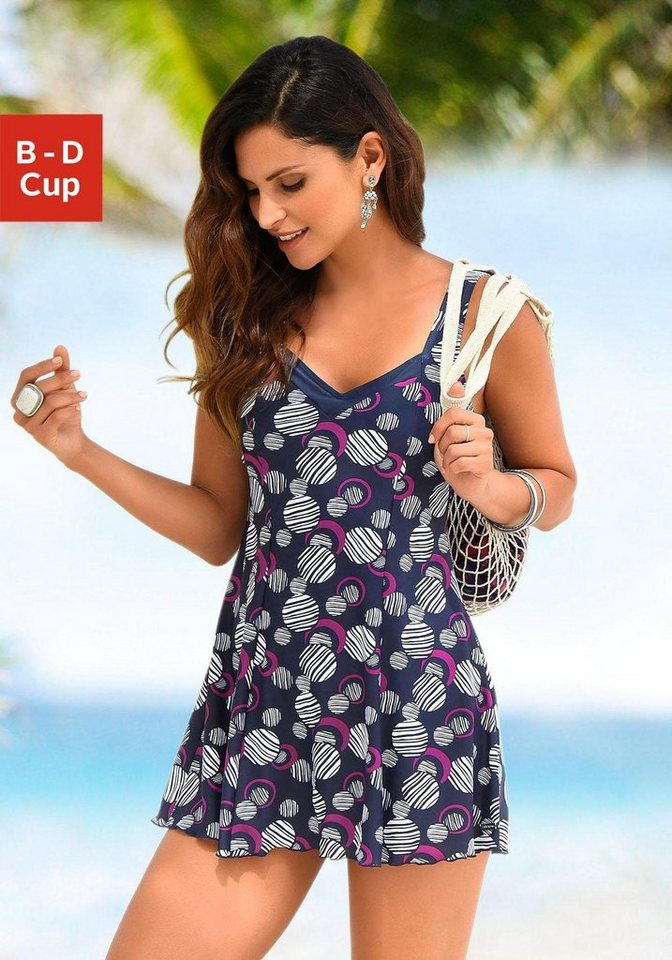 f3b327c524bf8a LASCANA Badekleid, mit modischen Kreisen kaufen | OTTO