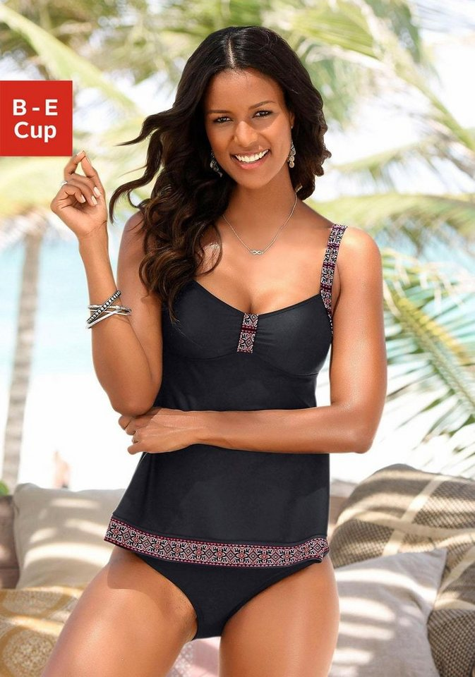 Bademode - LASCANA Tankini Top »Daisy«, in extra langer Form ›  - Onlineshop OTTO