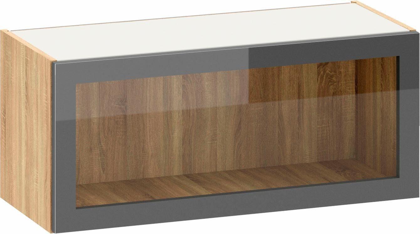 S+ by Störmer Klappenhängeschrank »Melle Premium« mit Glasfront, Breite 90 cm, vormontiert