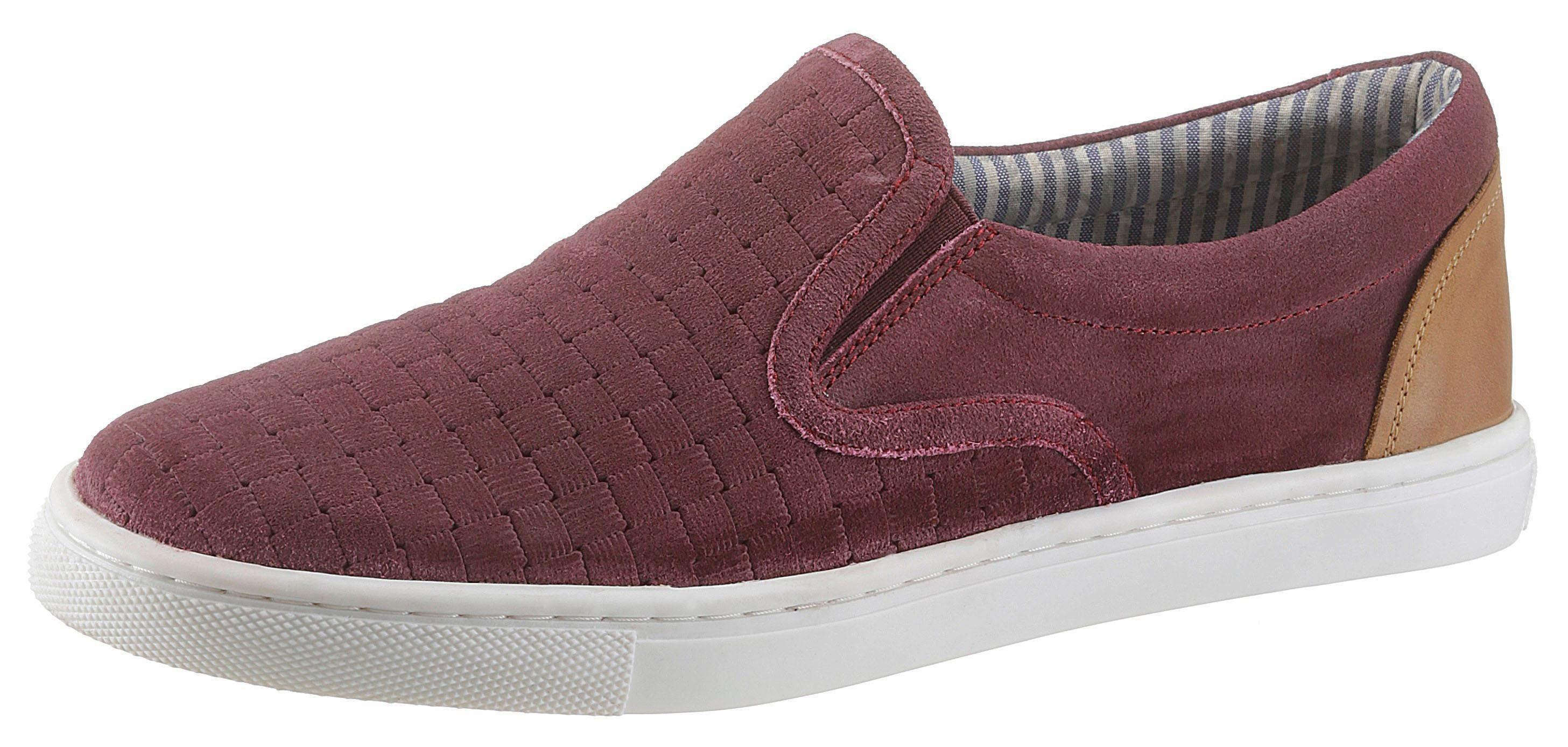 PETROLIO Sneaker, mit modischer Flechtoptik kaufen  bordeaux