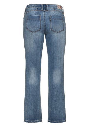 Joe Browns Stretch-Jeans, mit kleinem Paillettenbesatz