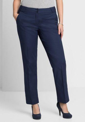 Damen sheego Style Webhose mit Bügelfalte blau | 04054697788754