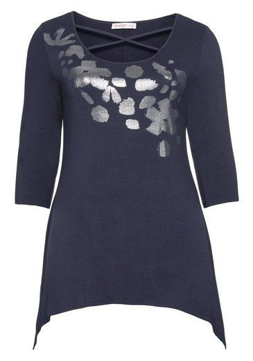 sheego Style Longshirt, in Zipfelform