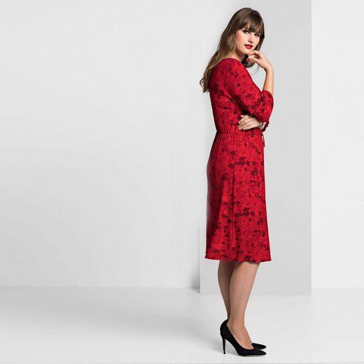 sheego Style Jerseykleid, in Wickel-Optik