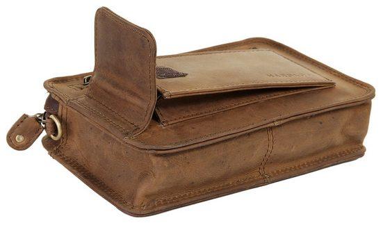 Harolds Leather Wrist Bag Antique