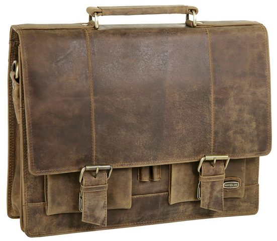 Harolds Antique Leather Briefcase