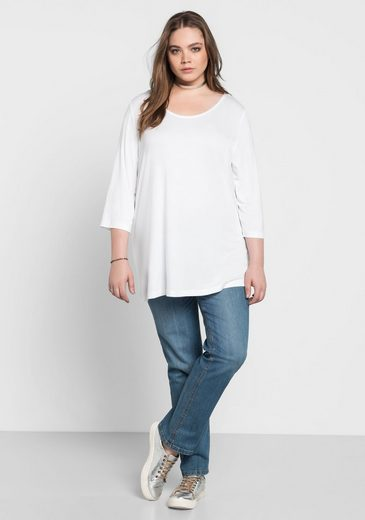 sheego Basic 3/4-Arm-Shirt