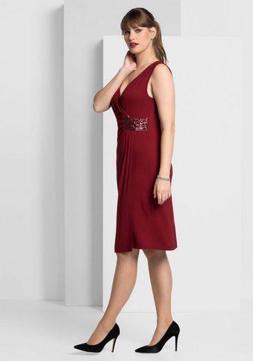 Jerseykleid Style Sheego, En Wickel-optik