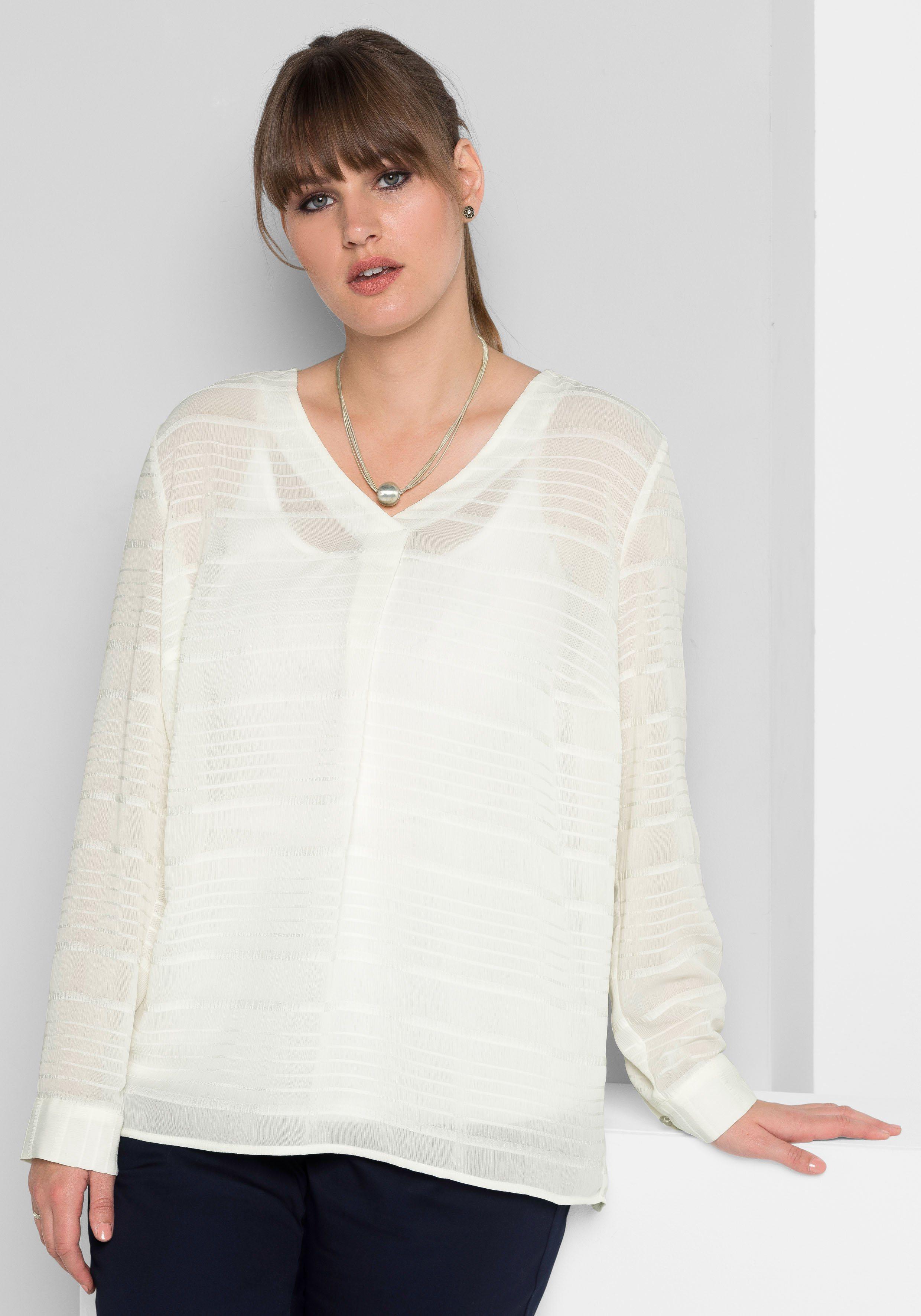 sheego Style Tunika, transparent | Bekleidung > Tuniken > Sonstige Tuniken | sheego Style