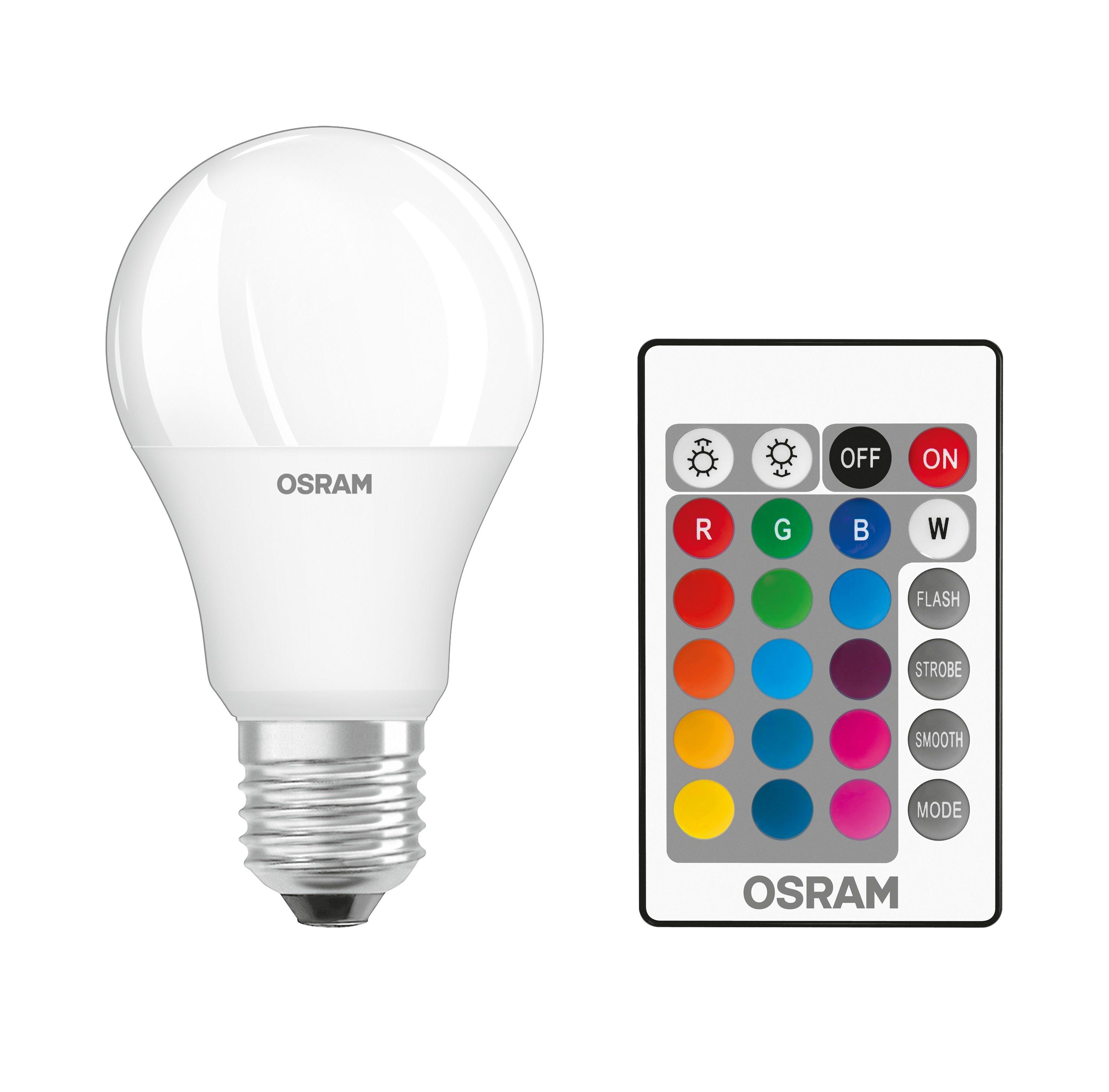 Osram Star+ Classic LED-RGBW-Lampe mit Fernbedienung »ST CLAS A 60 9 W/827 E27 RGBW«