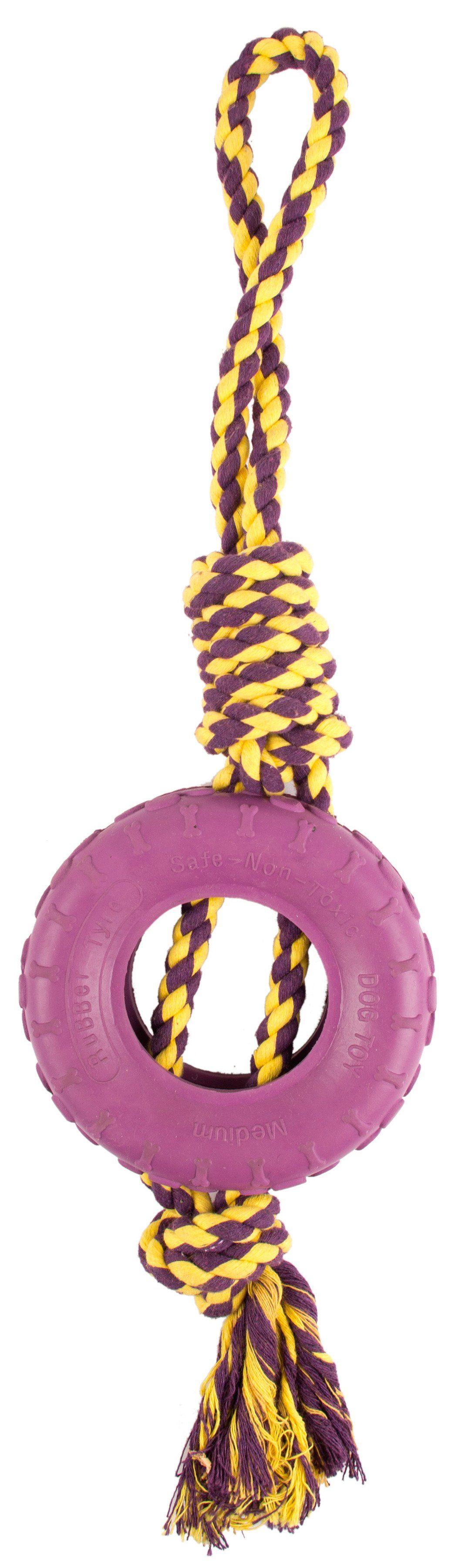 Hundespielzeug , Spieltau mit Ring